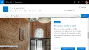Sharepoint Communication site